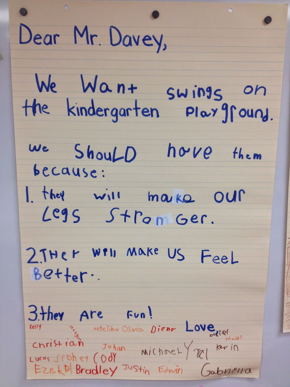 persuasive writing in kindergarten Looking at writing kindergarten: writing sample 3 kindergarteners are often enthusiastic writers and they will weave writing activities into ready for kindergarten.
