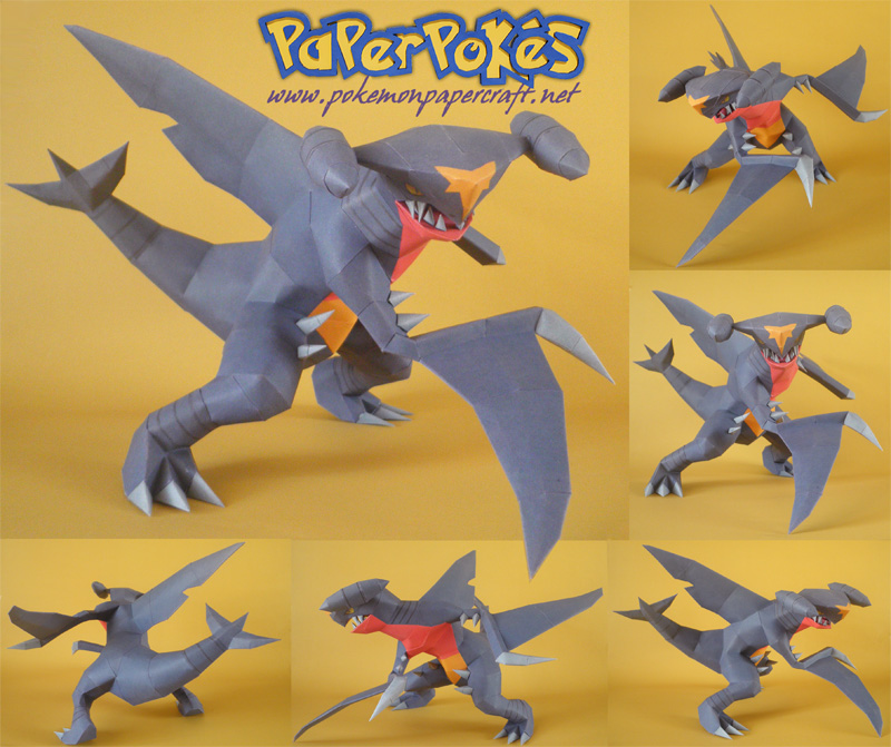 Pokemon Garchomp Papercraft