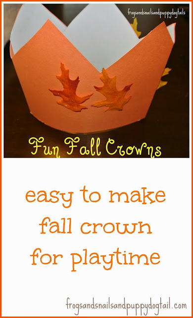 Fall Crowns- easy to make and perfect for playtime