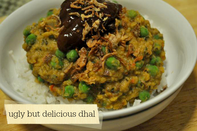 Ugly but delicious dhal // via Lilybett and Boy