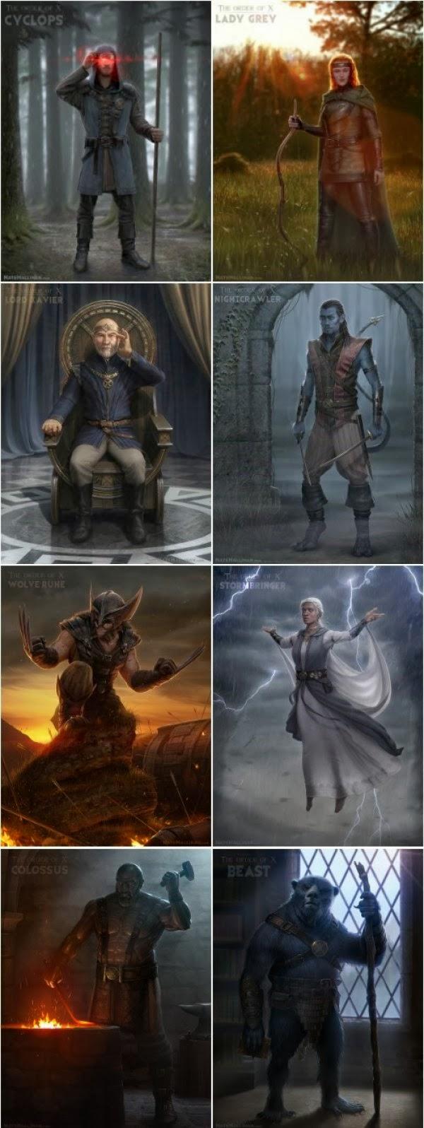 medieval mutantes x-men hq quadrinhos artes