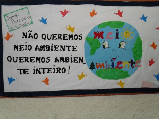 Mural semana do meio ambiente ideia criativa gi for Mural sobre o meio ambiente