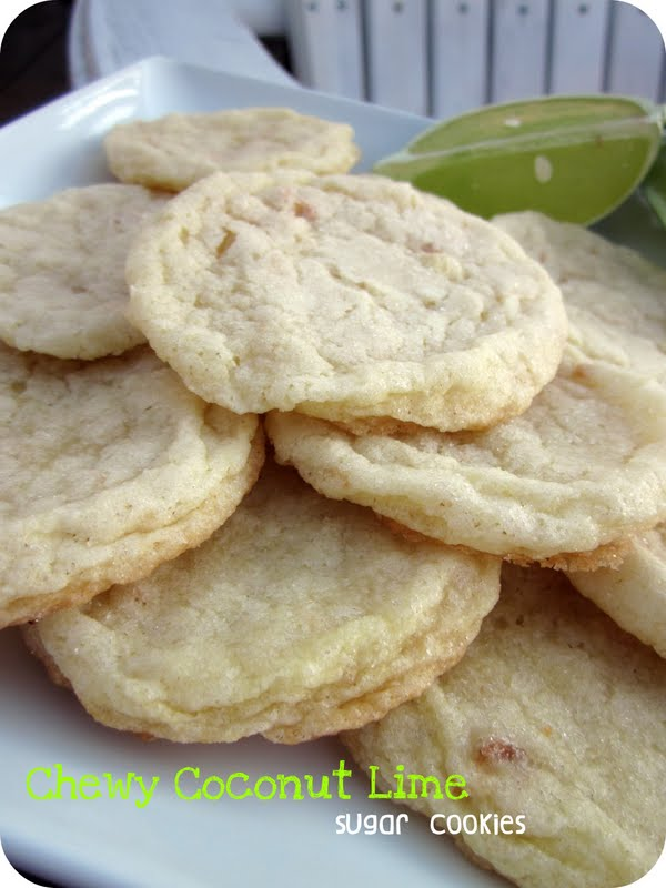 Chewy Coconut Lime Sugar Cookies / Six Sisters' Stuff | Six Sisters ...