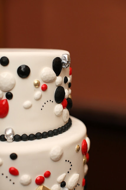 Wedding Cake with Jewel Detailing