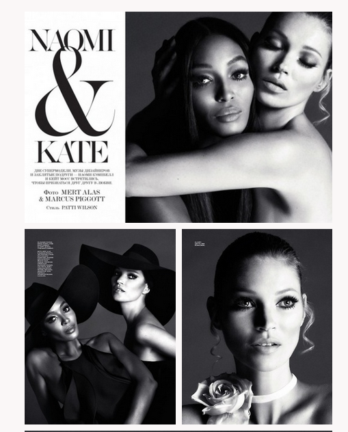 Top models Naomi Campbell and Kate Moss for Interview Russia