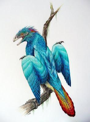 aves prehistoricas de Europa Iberomesornis