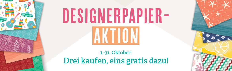 Designerpapier-Aktion