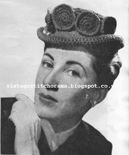 Free 1940's Crochet Pattern - Luncheon date hat