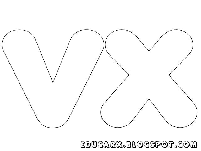 Molde de letras grandes vx