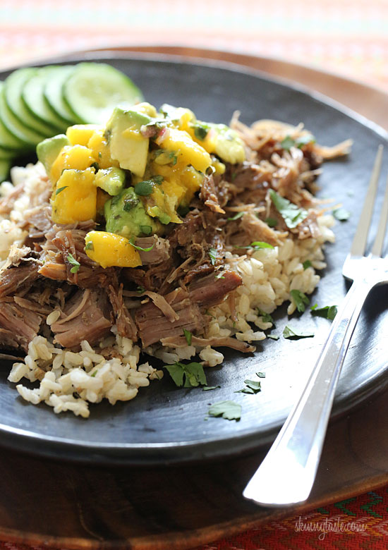 Crock Pot Jerk Pork with Caribbean Salsa