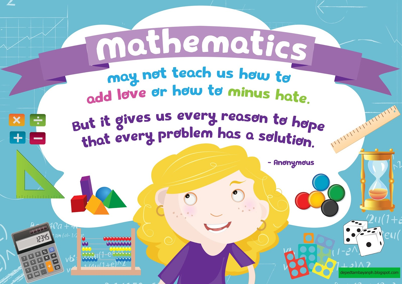 mathematics gives us every reason to hope  u2013 positivity poster
