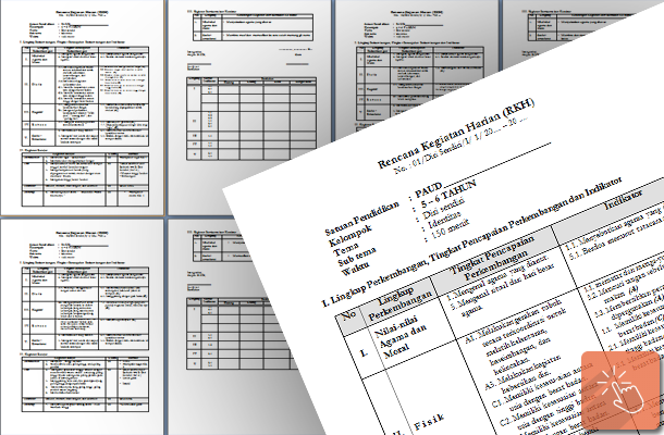 Rencana Kerja Harian (RKH) PAUD 5-6 Tahun