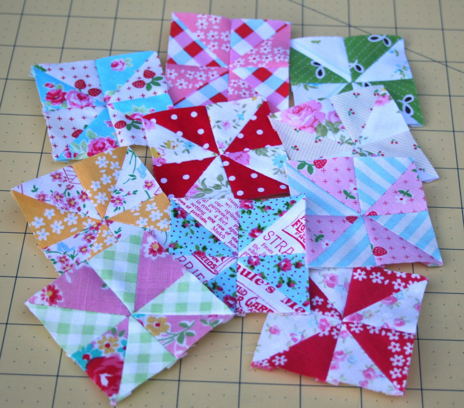 Lovely Little Handmades Mini Pinwheels And Tutorial
