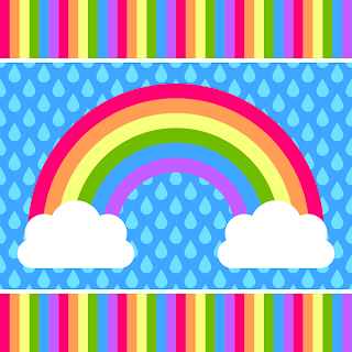 Printable Rainbow Gift Box