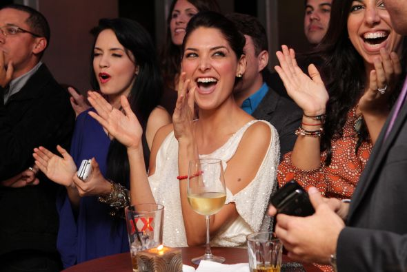 el elenco de el talisman celebran el primer capitulo de la telenovela