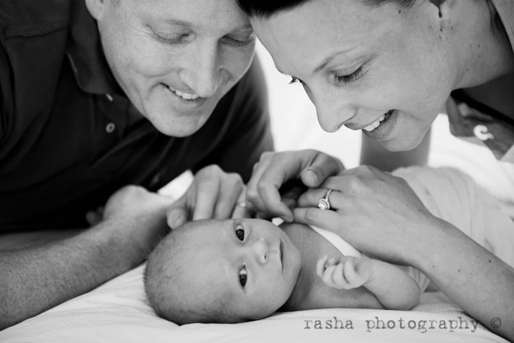 Baby newborn family portraits