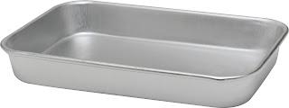 Tava pentru carne/cartofi prajiti, realizata din aluminiu, nu se poate spala in masina de spalat vase