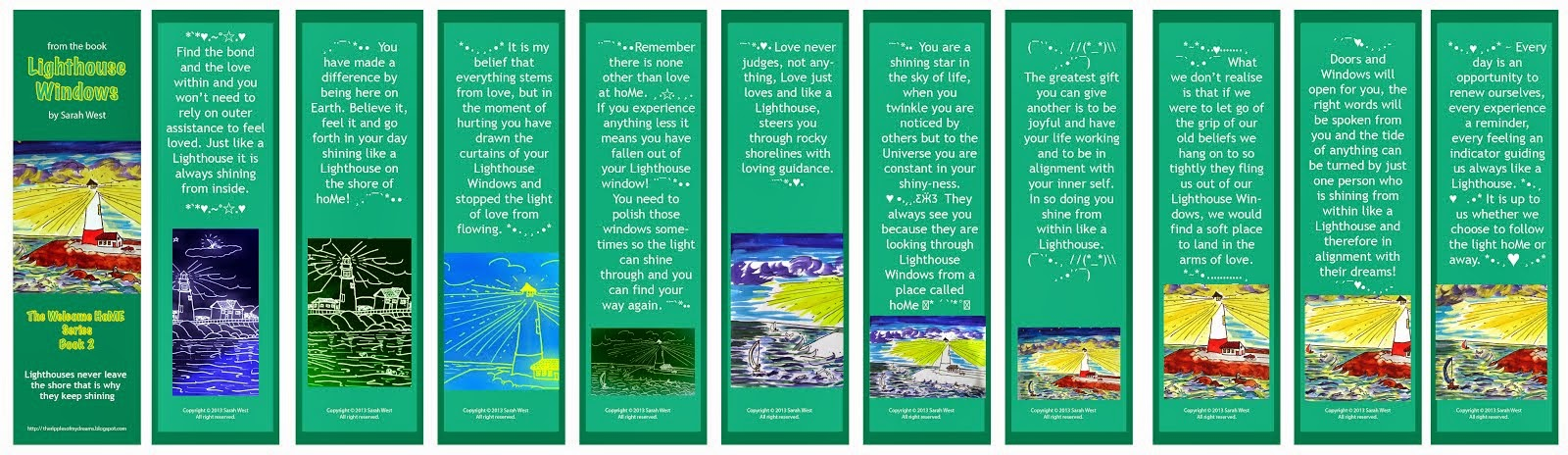 Lighthouse Windows Bookmarks