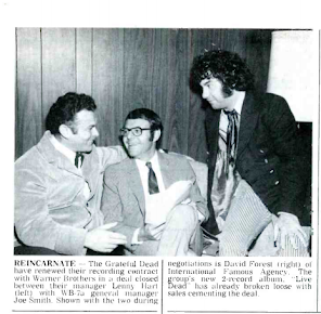 Rare Photo of Lenny Hart, Dec. 69 with his Business Partners Actually Smiling
