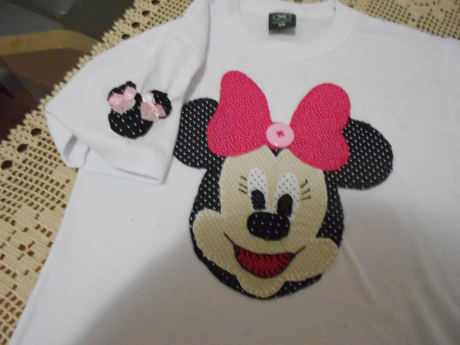 bf81bb9263 Ateliê da Anderlene  Camisetas personalizadas da Minnie