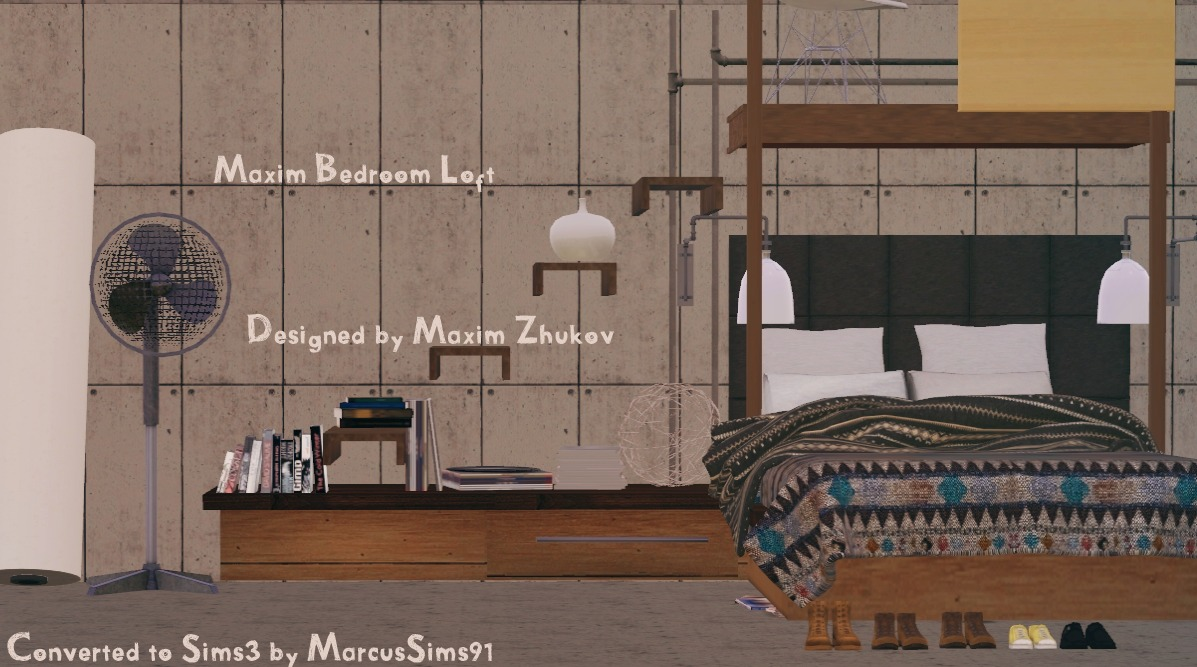 Sims 3 Bedroom My Sims 3 Blog Maxim Loft Bedroom Set By Marcusims91