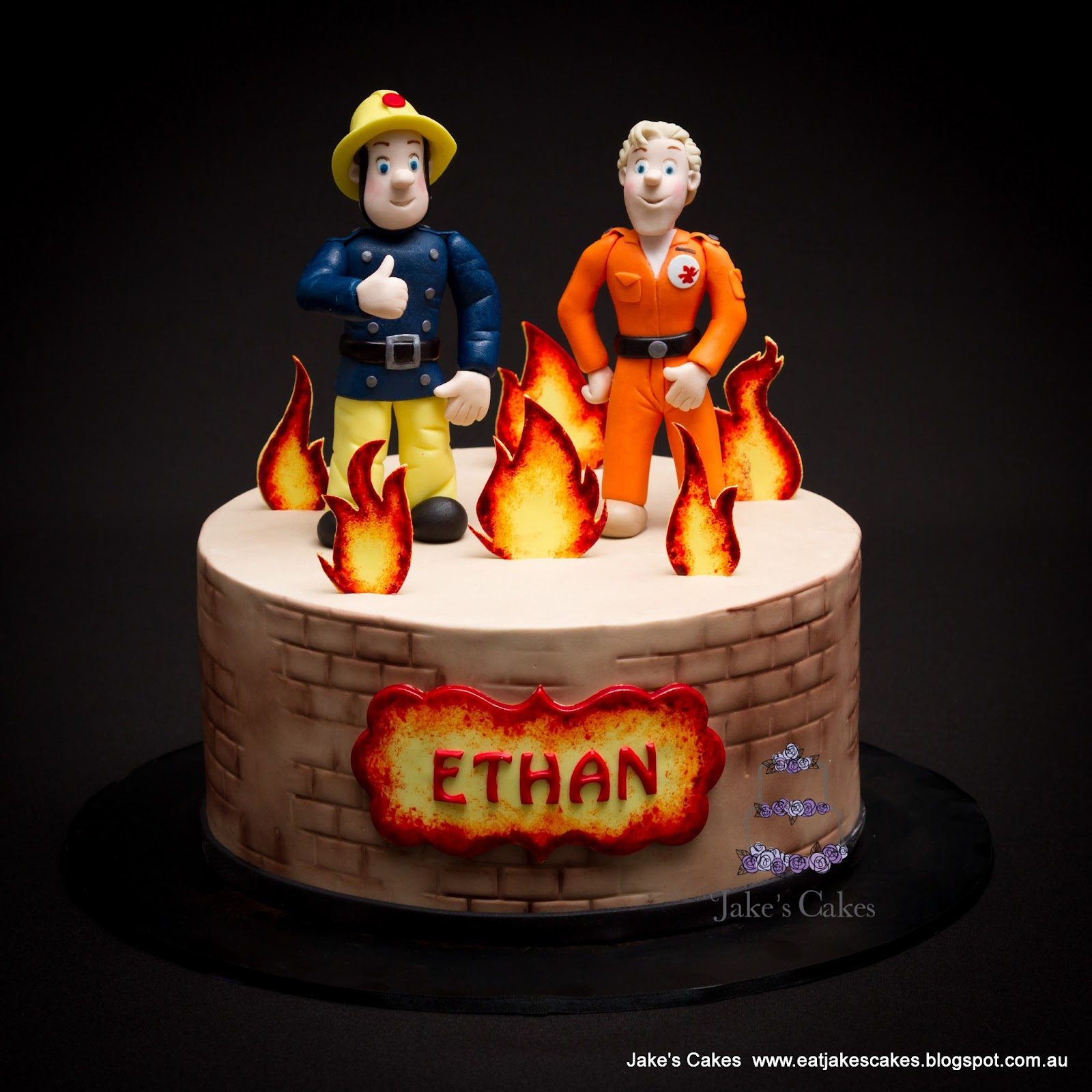 Jakes Cakes Fireman Sam Cake