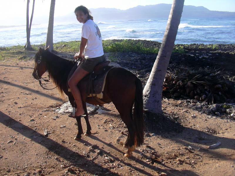 Woman Riding Pony Girl