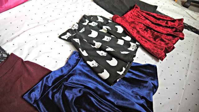 Clothing Haul skirts velvet cat print h&m primark