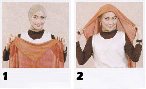Tutorial jilbab Paris Gradasi