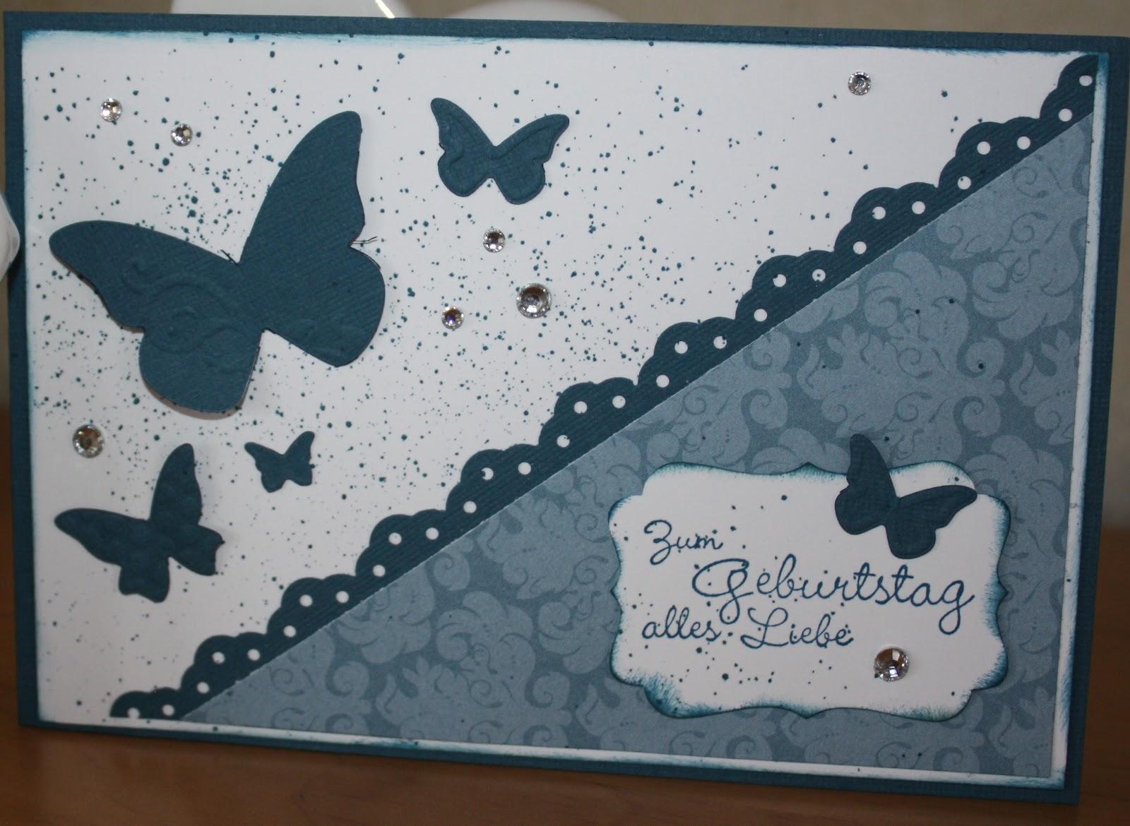 Derstempelvogel blaue geburtstagskarten for Selbstgemachte geburtstagskarten