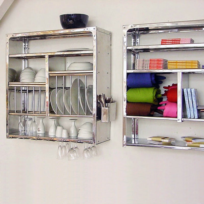 ... kitchens but most of the times these are very costly. In such situation a stainless steel dish dryer display rack could be a perfect solution for this. & Stainless Steel Kitchen Plate Rack