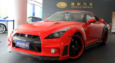 Blood-Red Nissan GT-R Gets Bodykit in China