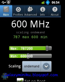 Overclock Android Samsung Galaxy Mini