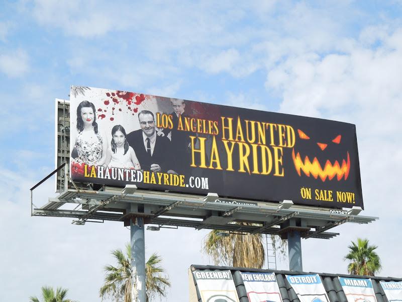 LA Haunted Hayride family portrait billboard