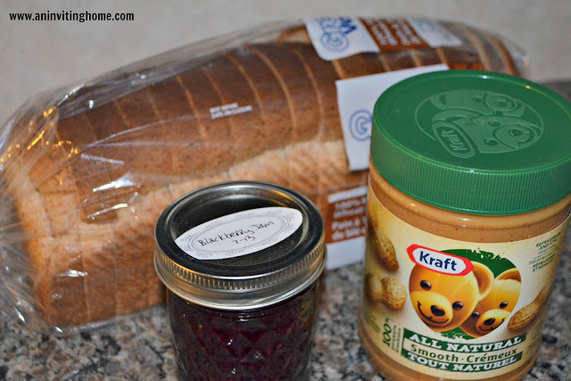 peanut butter and jelly meal