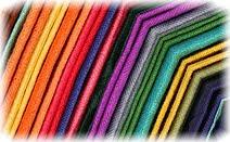 Кашемир, пашмина, разноцветные линии