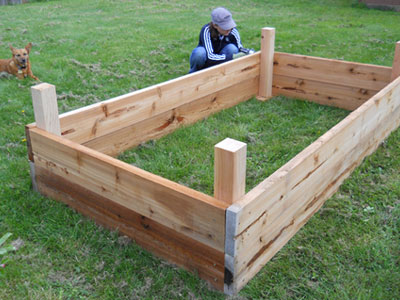 Plans for garden boxes images frompo 1 for Vegetable garden planter box designs