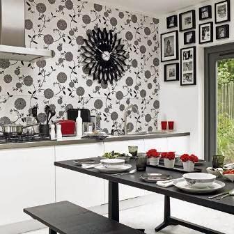 kitchen decorating ideas vinyl wallpaper