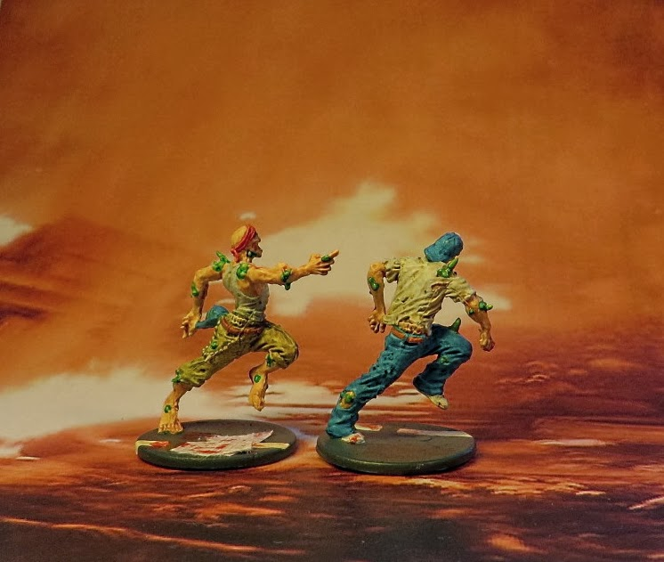 Zombiecide, Guillotine Games, runner, zombie, painted