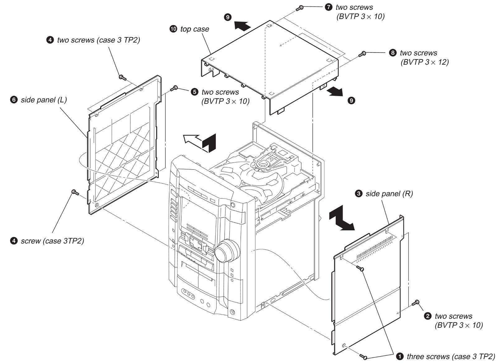 how to disassemble sony hcd