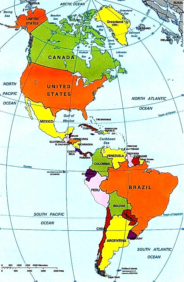 Mapa Cultural De America