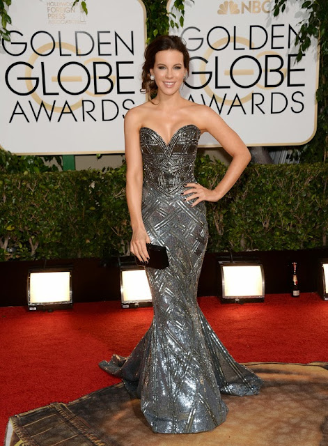 Kate Beckinsale in Zuhair Murad at the Golden Globes