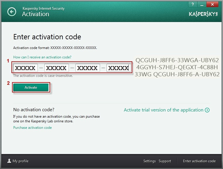kaspersky internet security 2016 activation code for 1 year free download