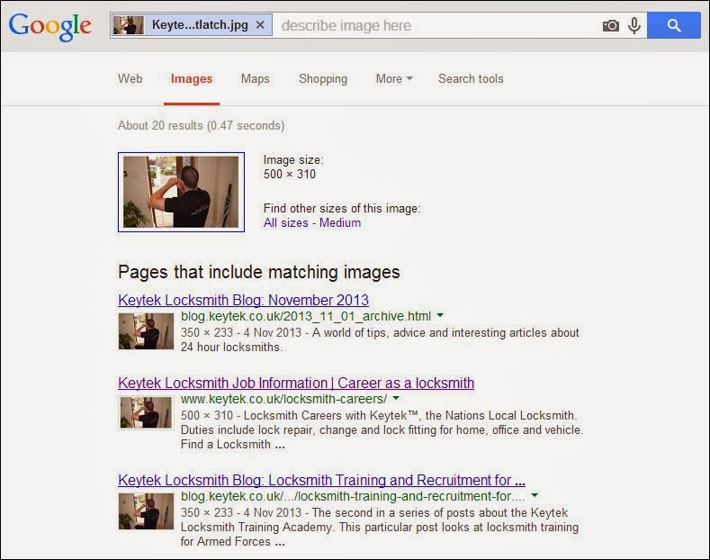 Google image search interprets image content
