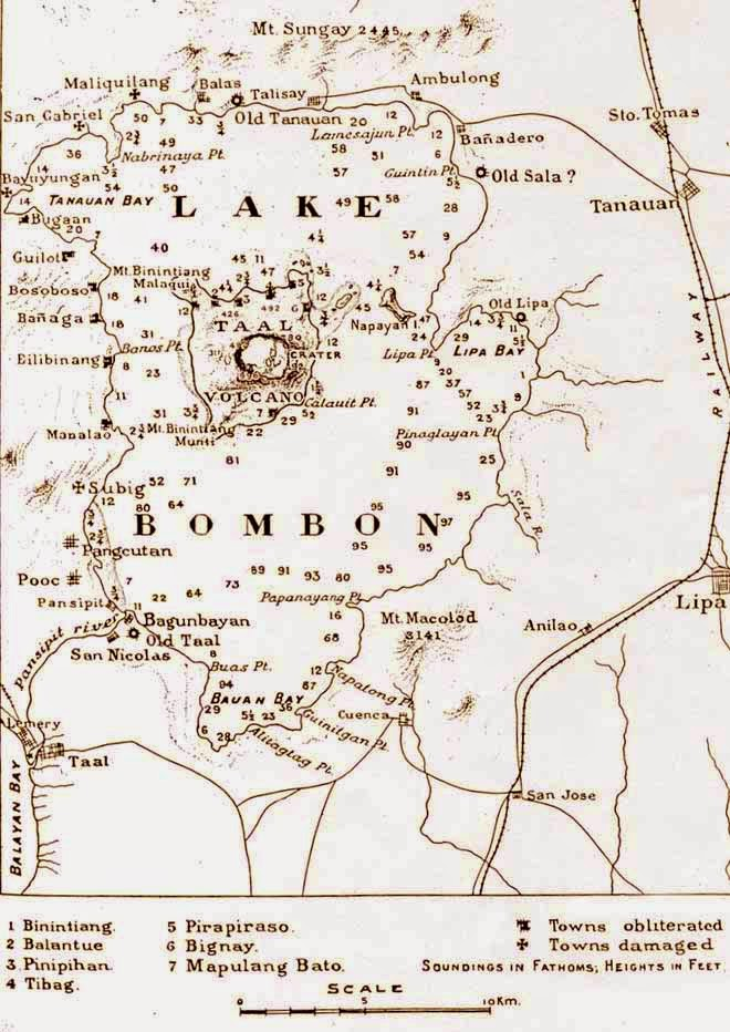 old map of Taal volcano