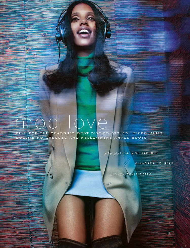 Fashion Model:  Grace Mahary - Elle South Africa, March 2015