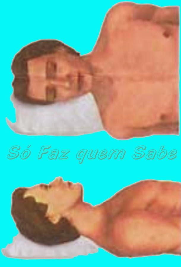 Postura corporal ao se deitar: utilizando corretamente o travesseiro.