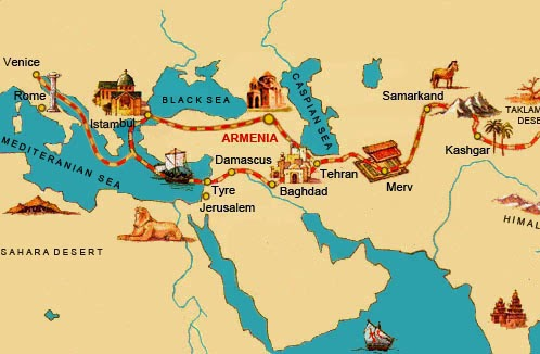 Silk Road map Armenia