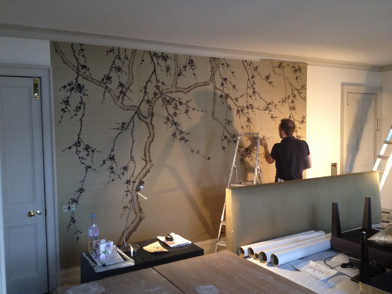 meads decorating hanging fromental hand embroidered silk