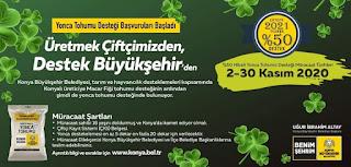 Konya Büyükşehir Belediyesi'nden yonca tohumu desteği!!